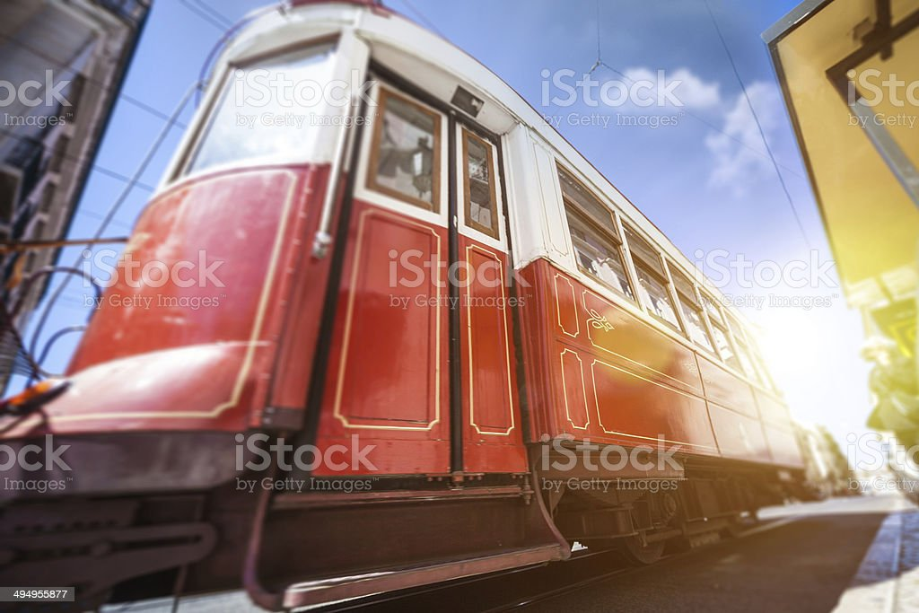 Typical Lisbon tourists tram royalty-free stock photo