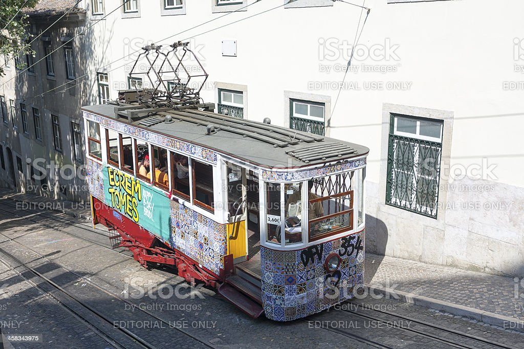 Typical Lisbon Tram royalty-free stock photo