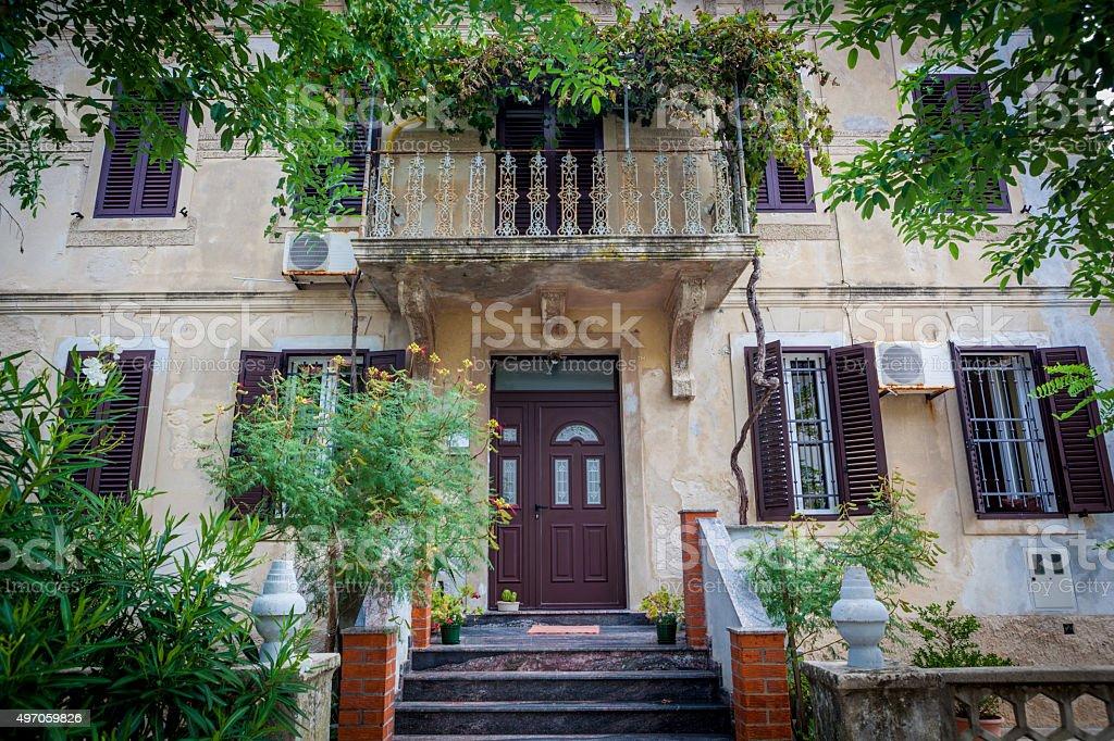 Typical mediterranean architecture on the island Krk stock photo