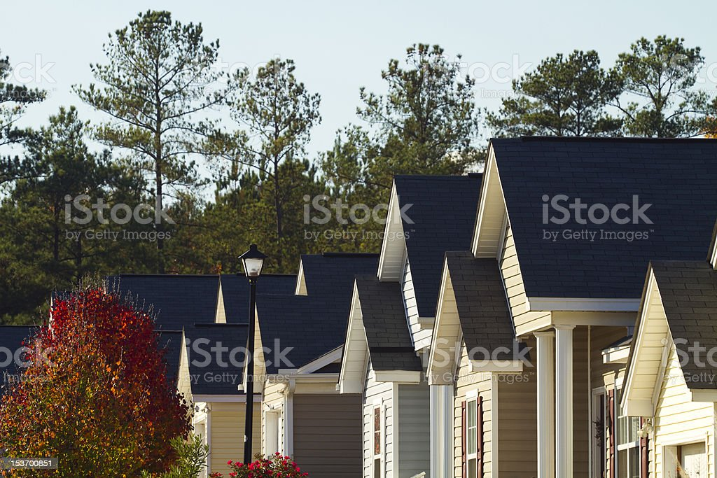 Typical Middle Class American Subdivision stock photo