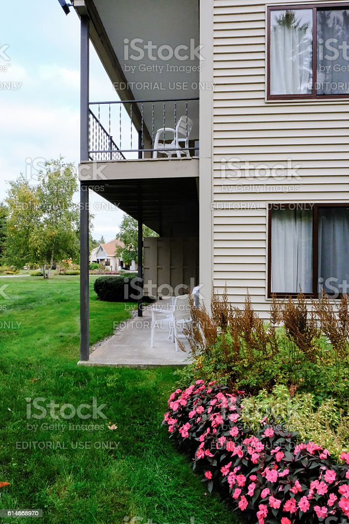 Typical Motel Design In The United Sates stock photo