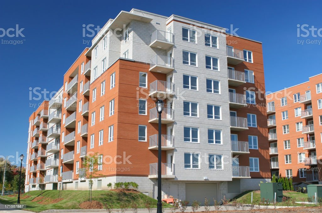 Typical Multi-Apartment Block stock photo
