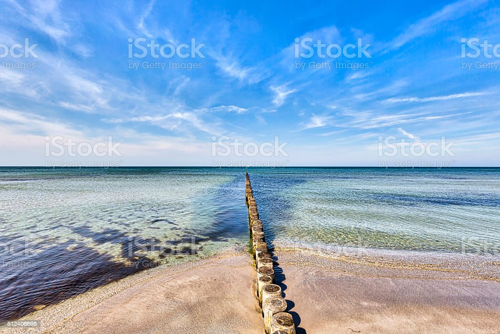 typical ocean landscape at Hiddensee island stock photo