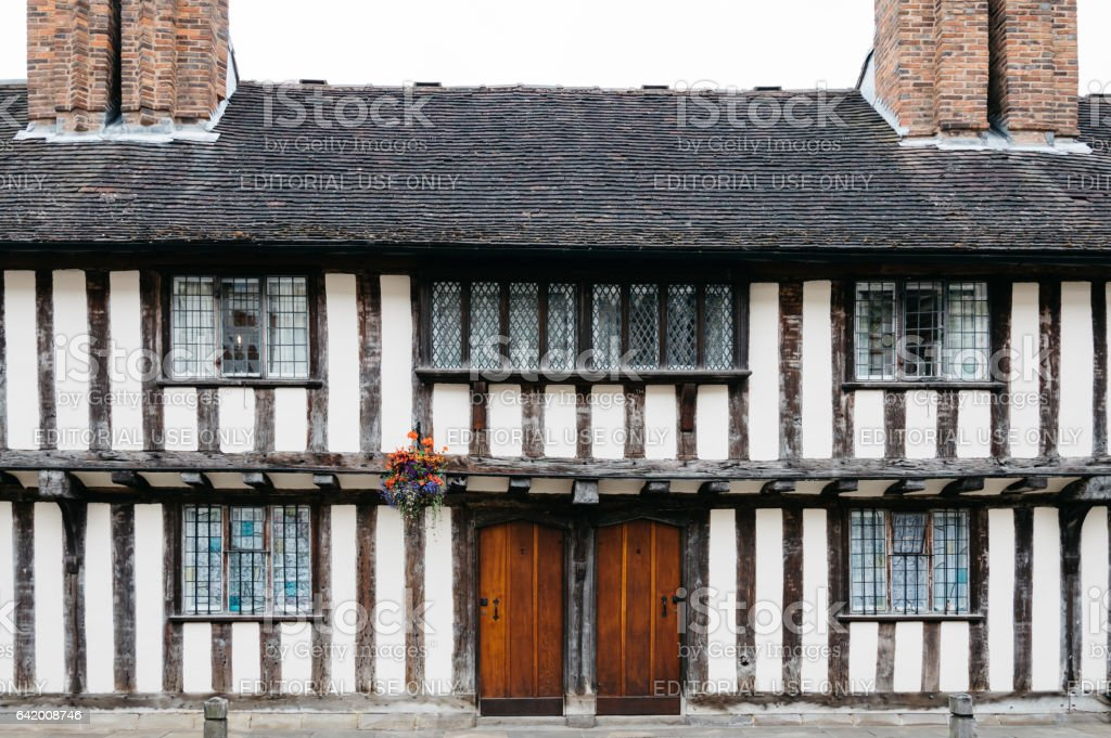 Typical old english house stock photo