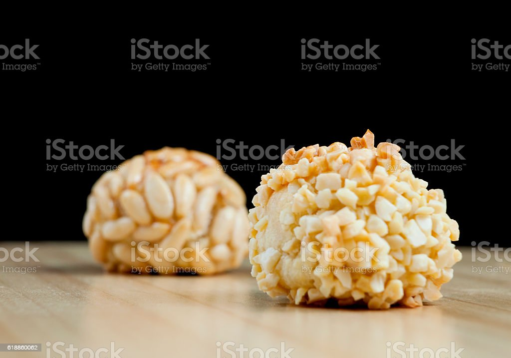 Typical panellets stock photo