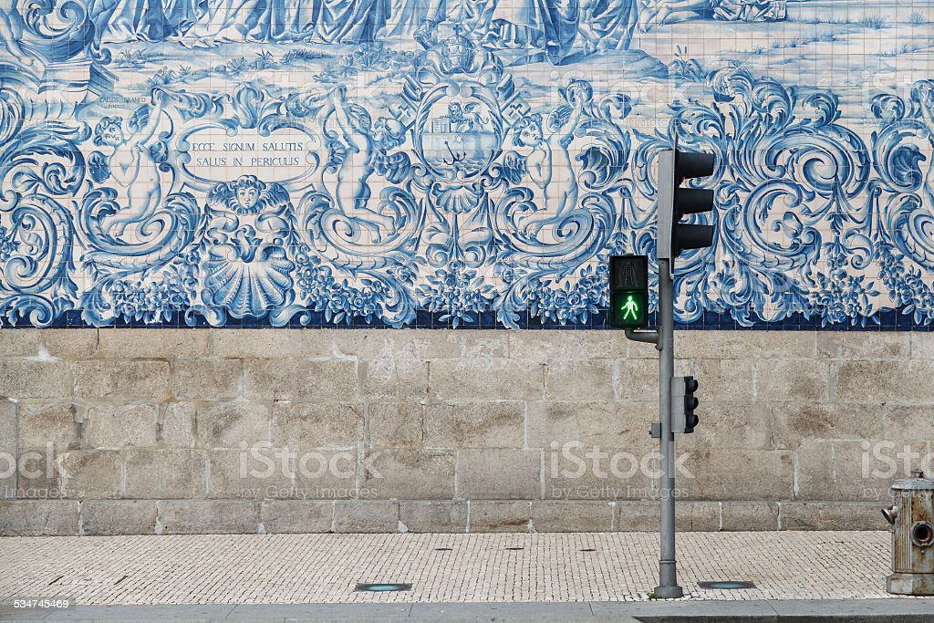 Typical Portuguese Tile-Work stock photo