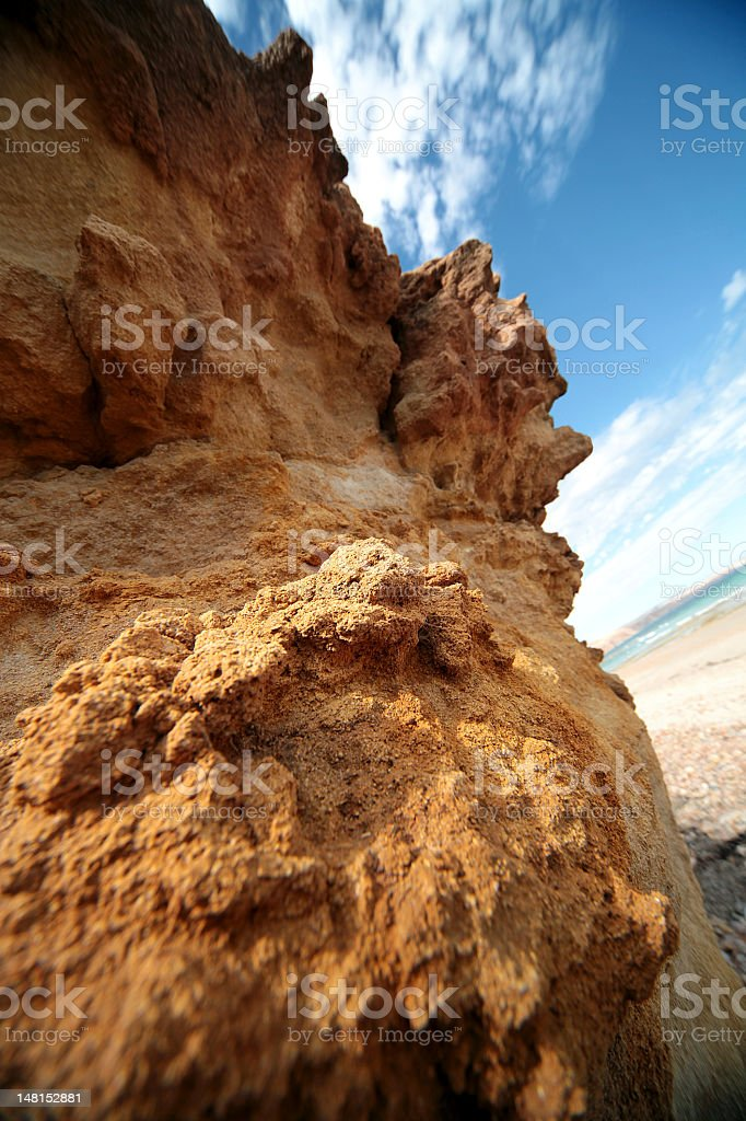 Typical red australian rock stock photo