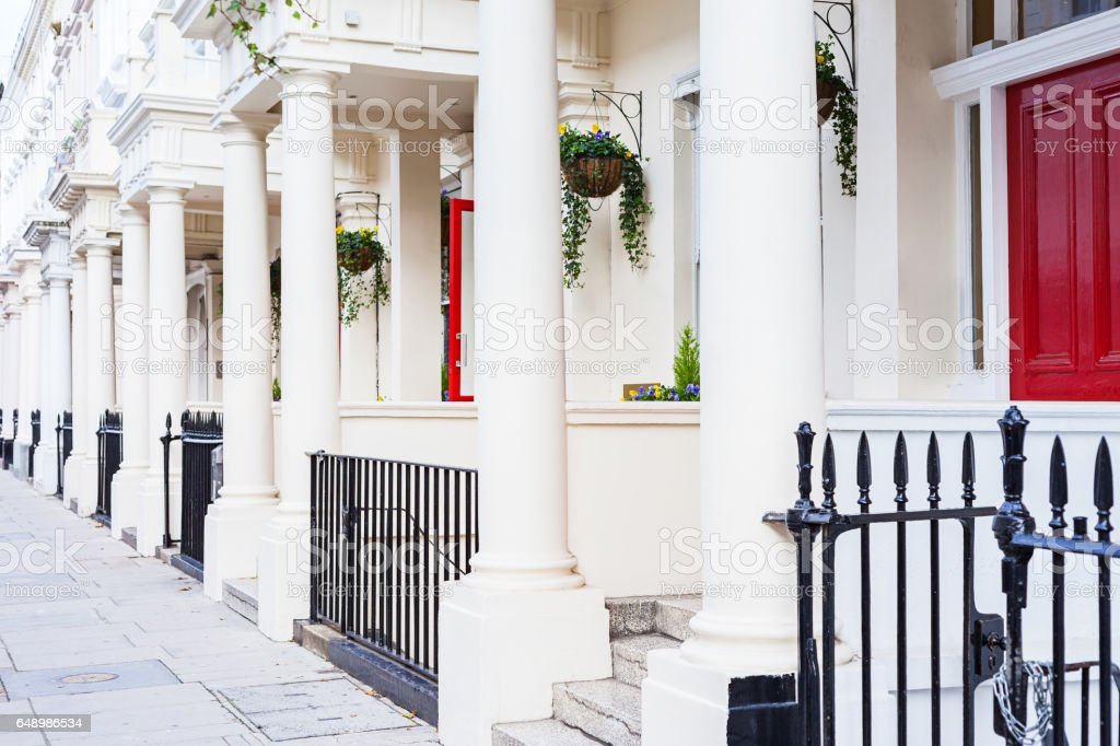 Typical Regency Style Row Houses in London England UK stock photo