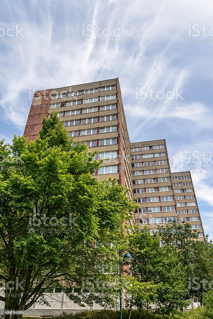 GDR typical residential buildings - Plattenbau royalty-free stock photo