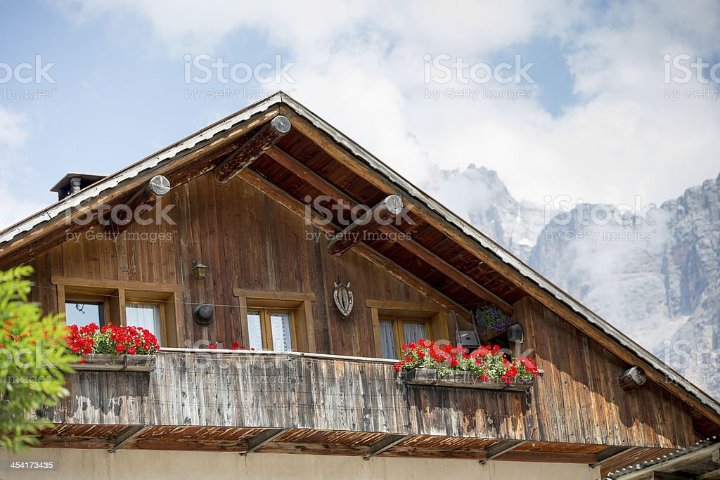 Typical rural house in the Alps royalty-free stock photo