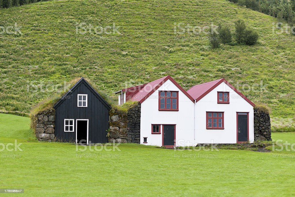 Typical Rural Icelandic houses royalty-free stock photo