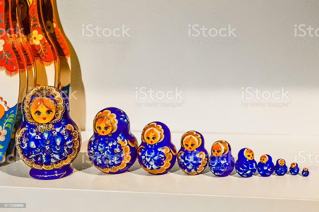 Typical russian doll Matreshka stock photo