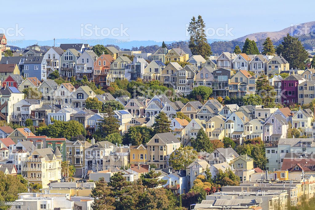 Typical San Francisco Neighborhood, California stock photo