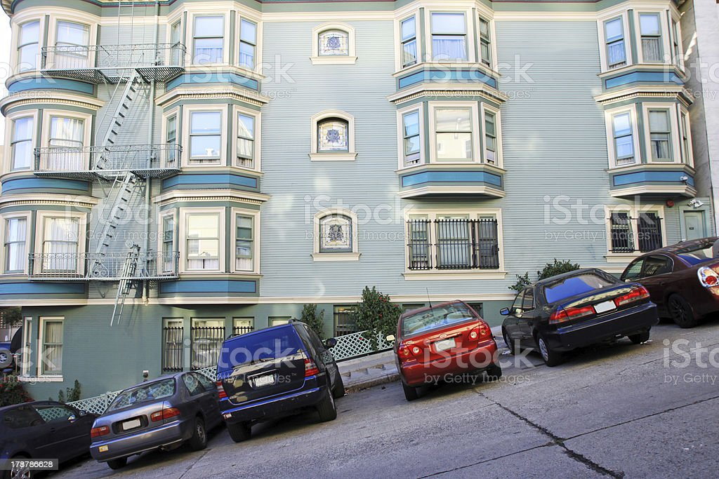 Typical San Francisco road stock photo