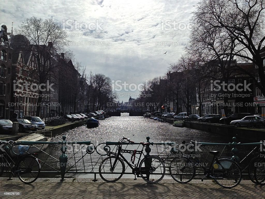 Typical Scenery of Amsterdam royalty-free stock photo
