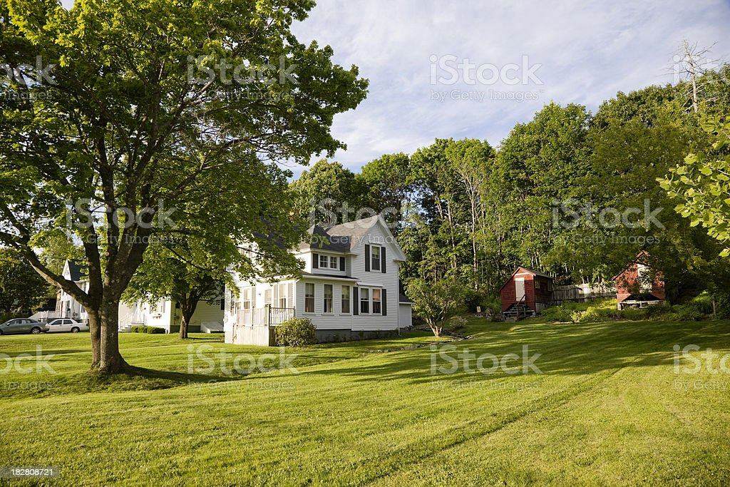 Typical scenery of small New England town royalty-free stock photo