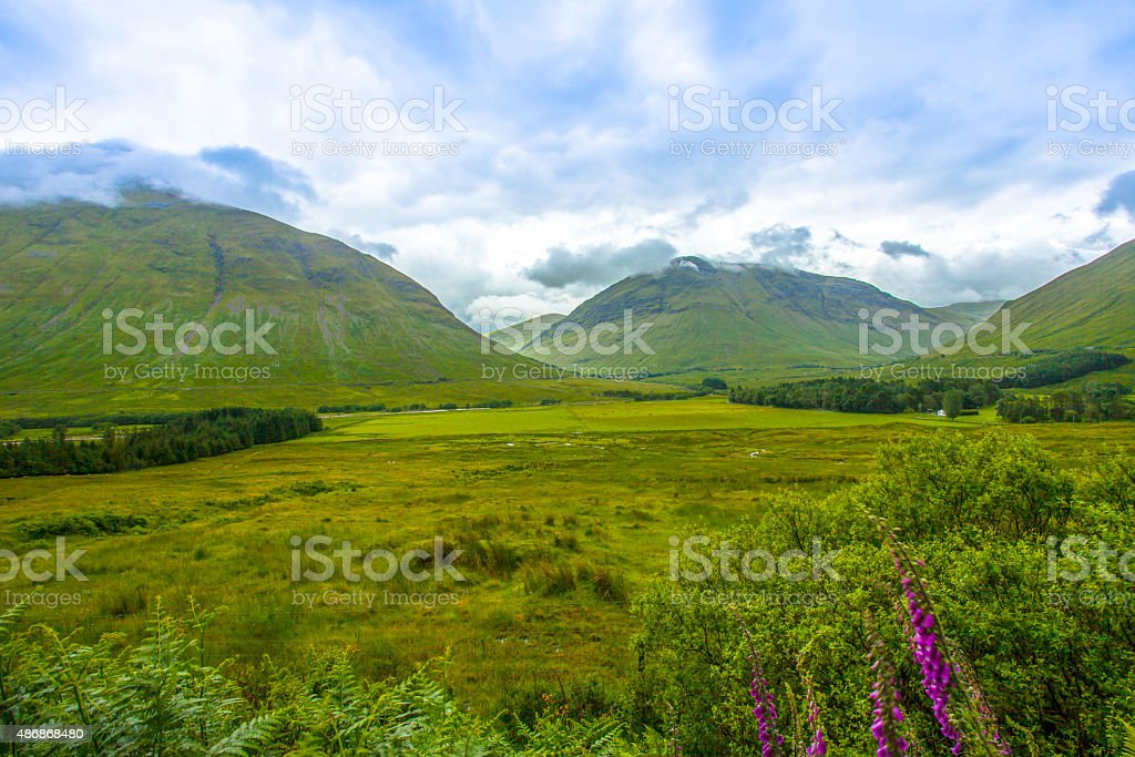 Typical Scottish Highlands Landscape stock photo