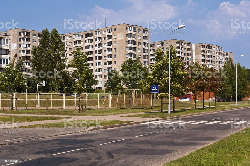 Typical Socialist Blocks of Flats stock photo