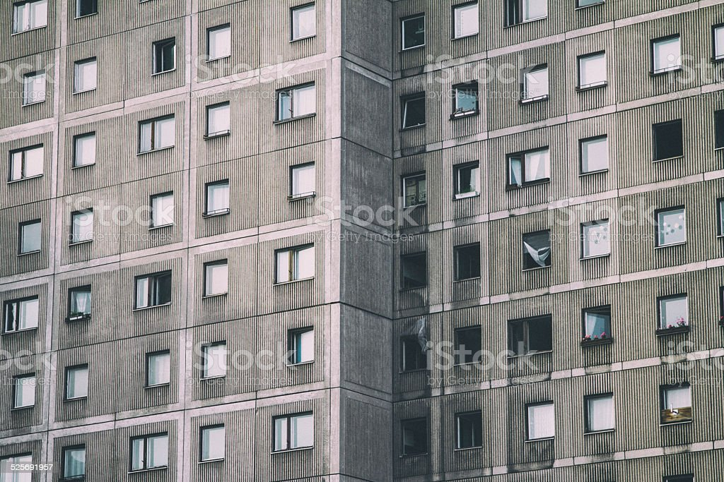 Typical socialistic building in Berlin stock photo