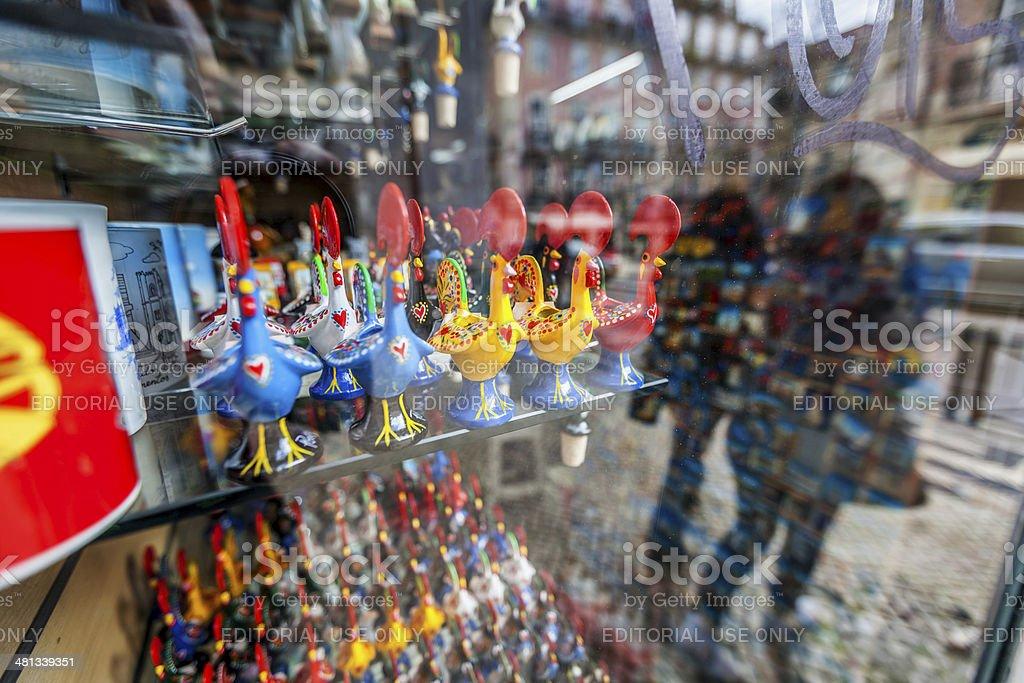 Typical souvenir gifts from Portugal, in Lisbon royalty-free stock photo