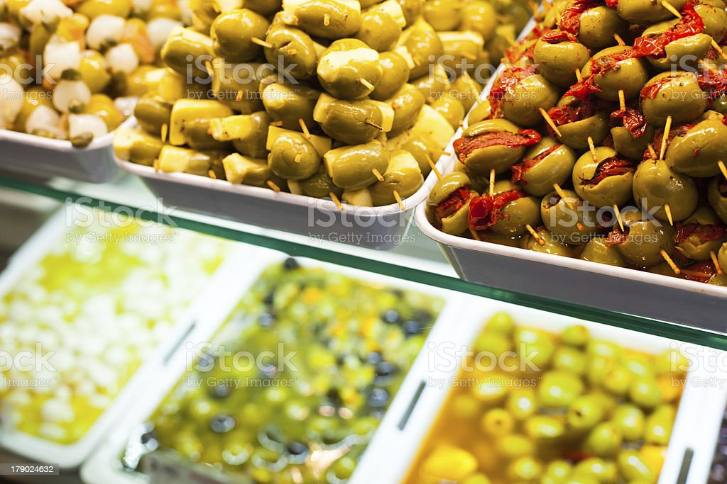 Typical spanish food market. royalty-free stock photo