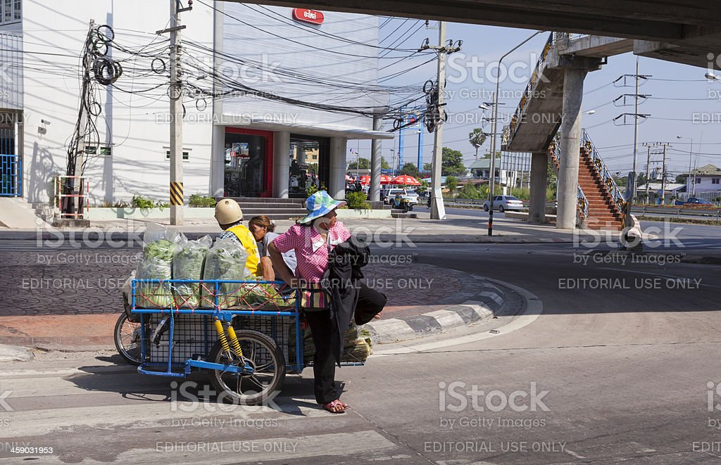 Typical street in Thailand. royalty-free stock photo