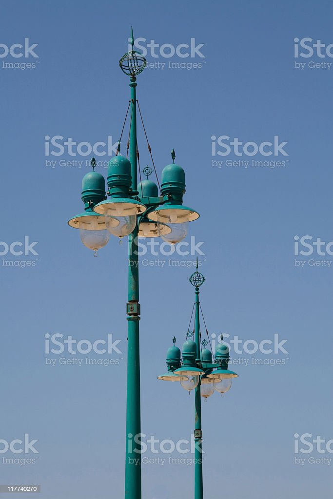 typical street-lamps in croatia royalty-free stock photo