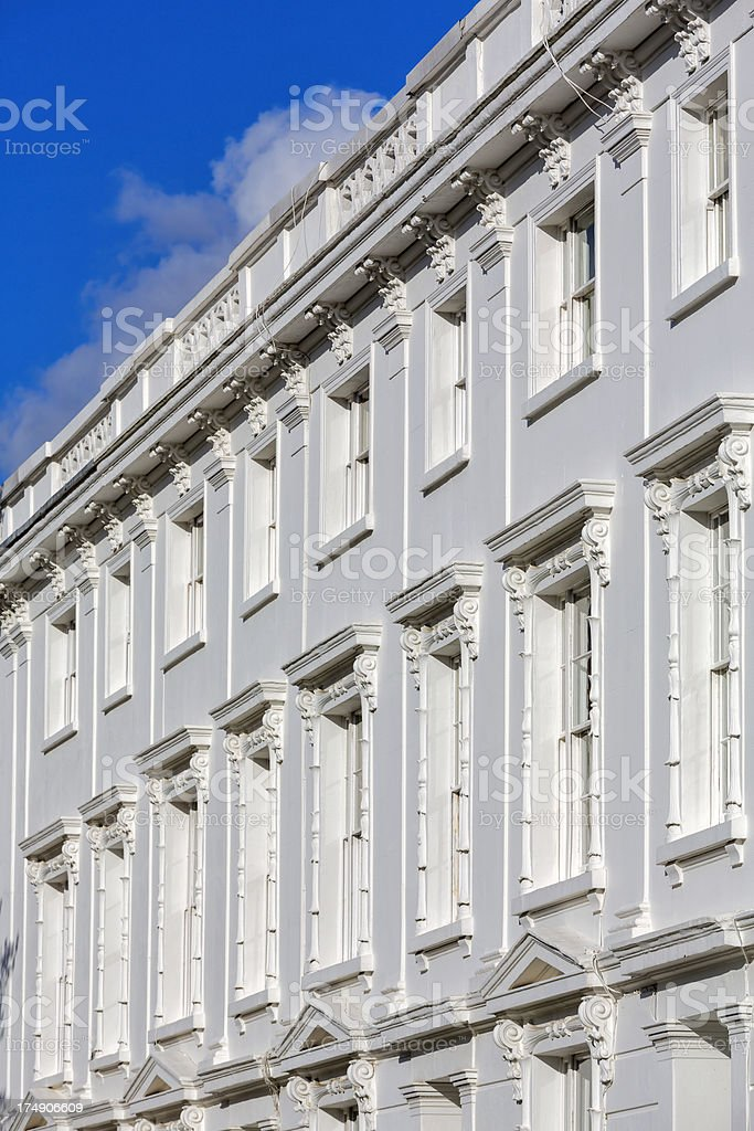 Typical stucco terraced houses stock photo