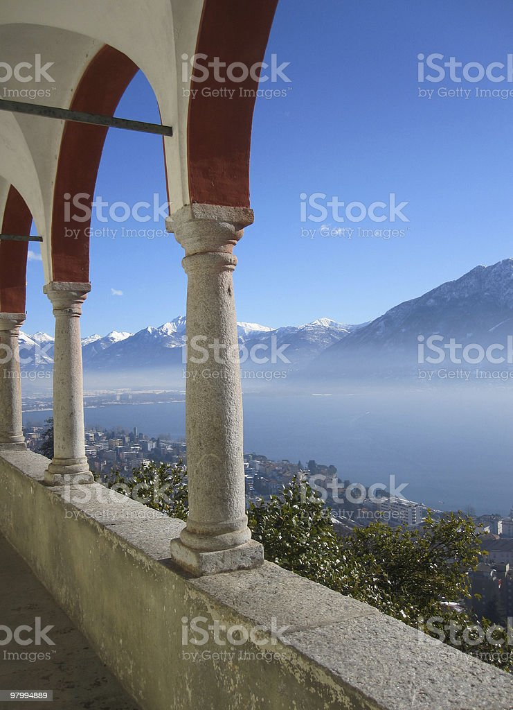 typical Swiss View royalty-free stock photo