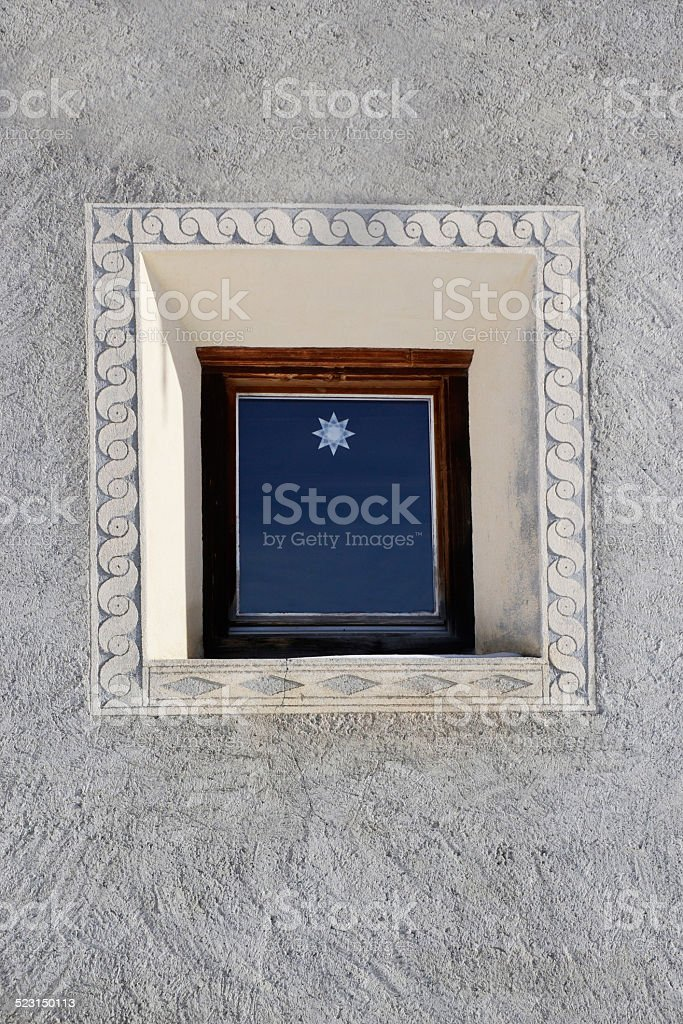 Typical switzerland window stock photo