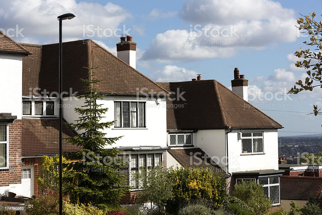 Typical terraced houses stock photo