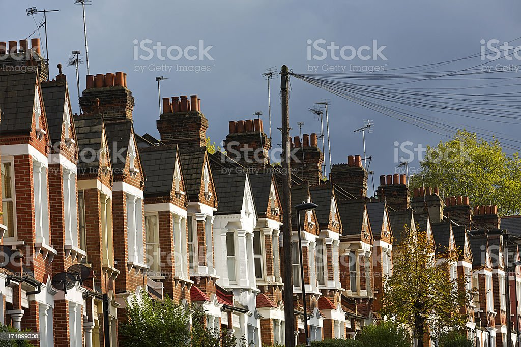 Typical terraced houses royalty-free stock photo