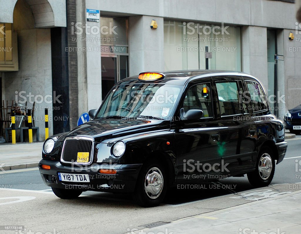 Typical traditional british taxi cab in the streets of Liverpool royalty-free stock photo
