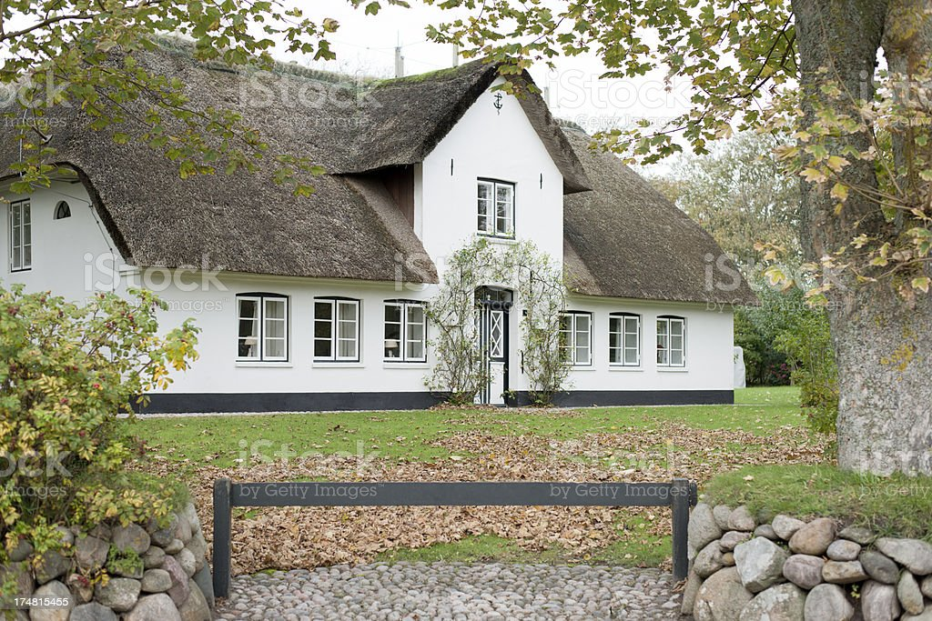 Typical traditional home on island Sylt, Germany stock photo