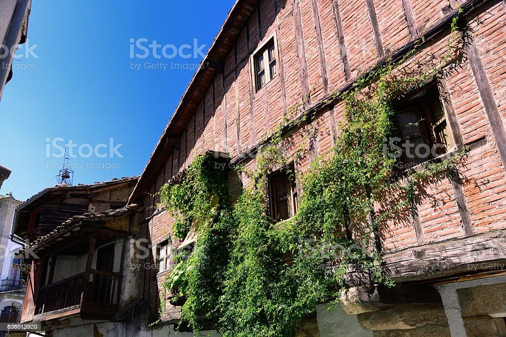 typical traditional house and street - foto de stock