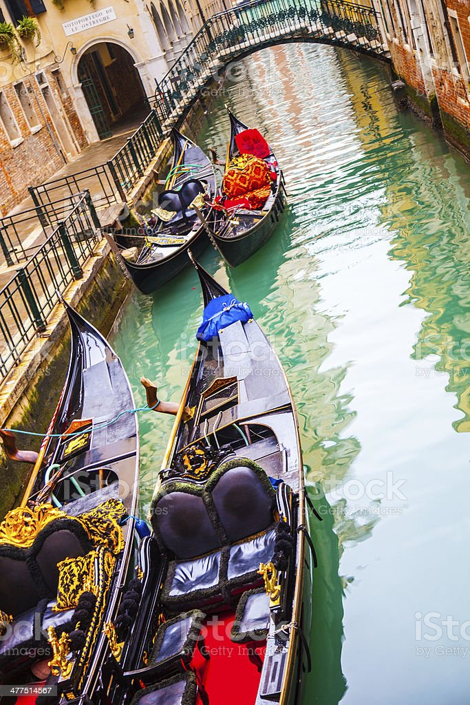 Typical tranquil alley in Venice royalty-free stock photo