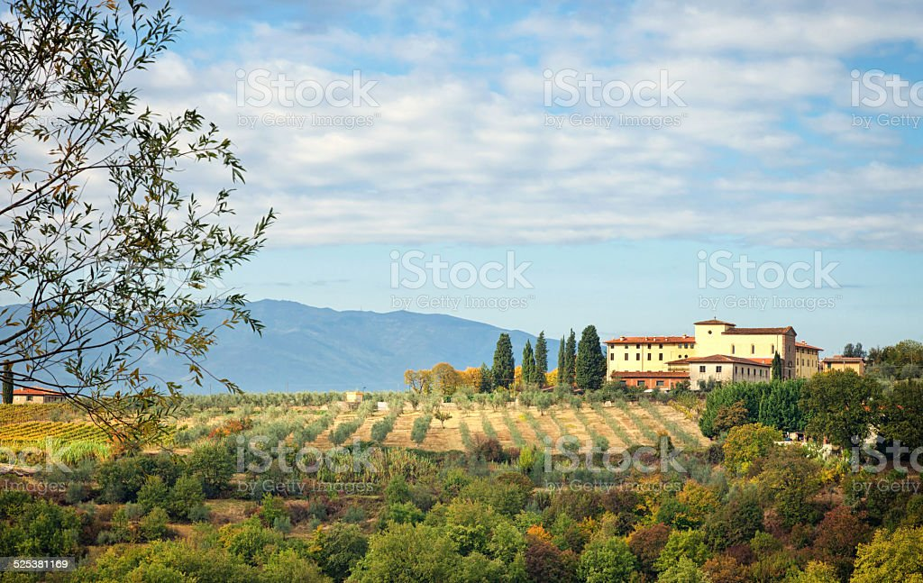 Typical Tuscan hill stock photo
