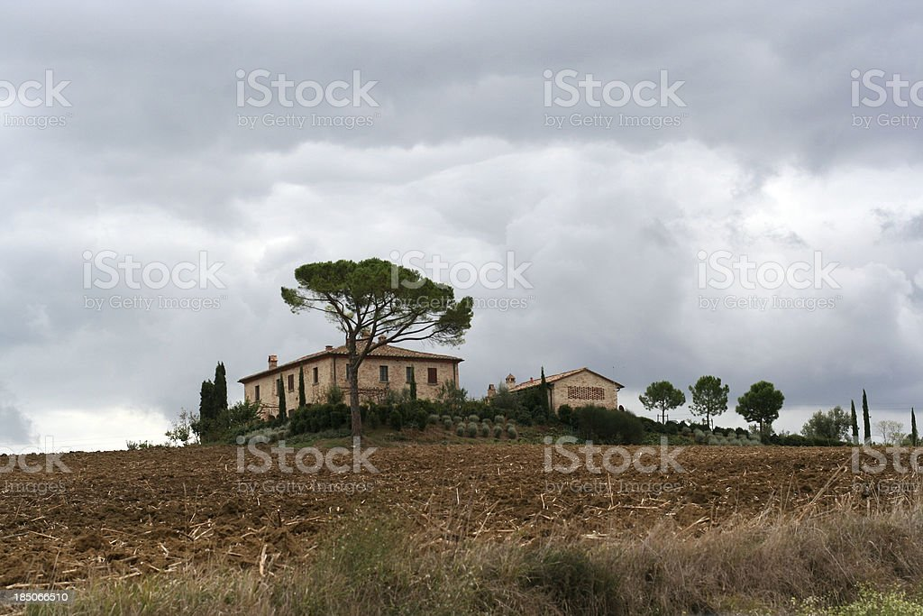 Typical Tuscan villa royalty-free stock photo
