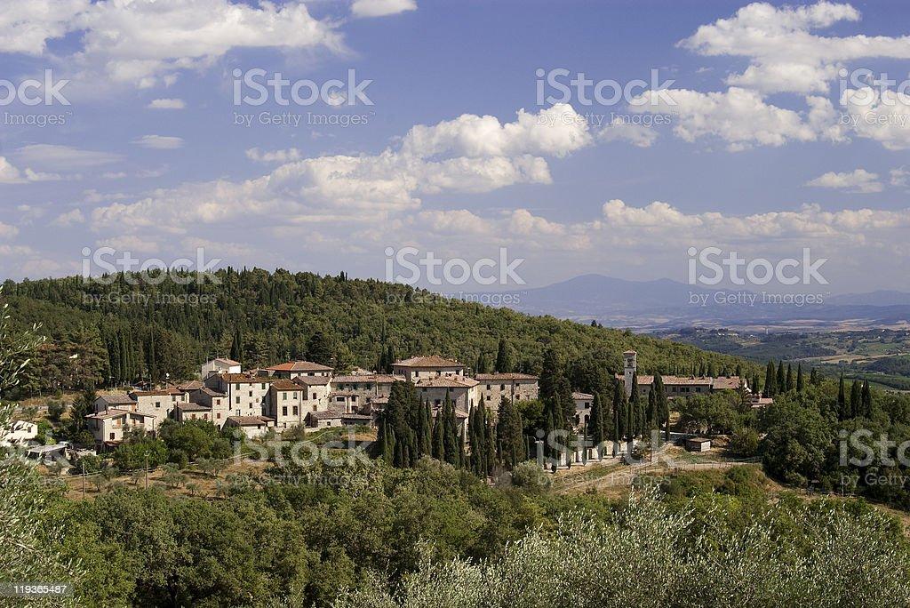 typical Tuscany village royalty-free stock photo