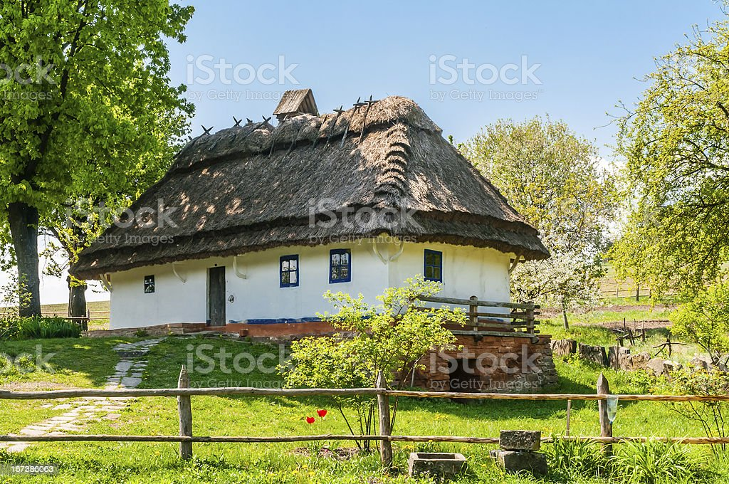 Typical ukrainian antique house royalty-free stock photo