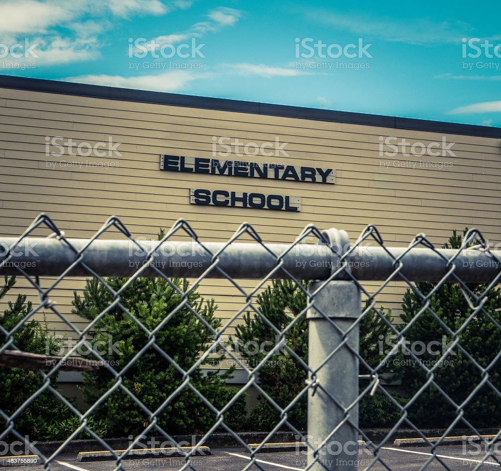 Typical US Elementary School stock photo