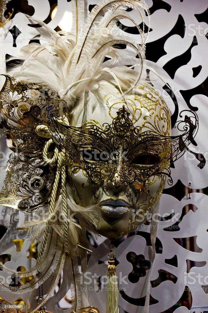 Typical Venetian Carnival Mask stock photo
