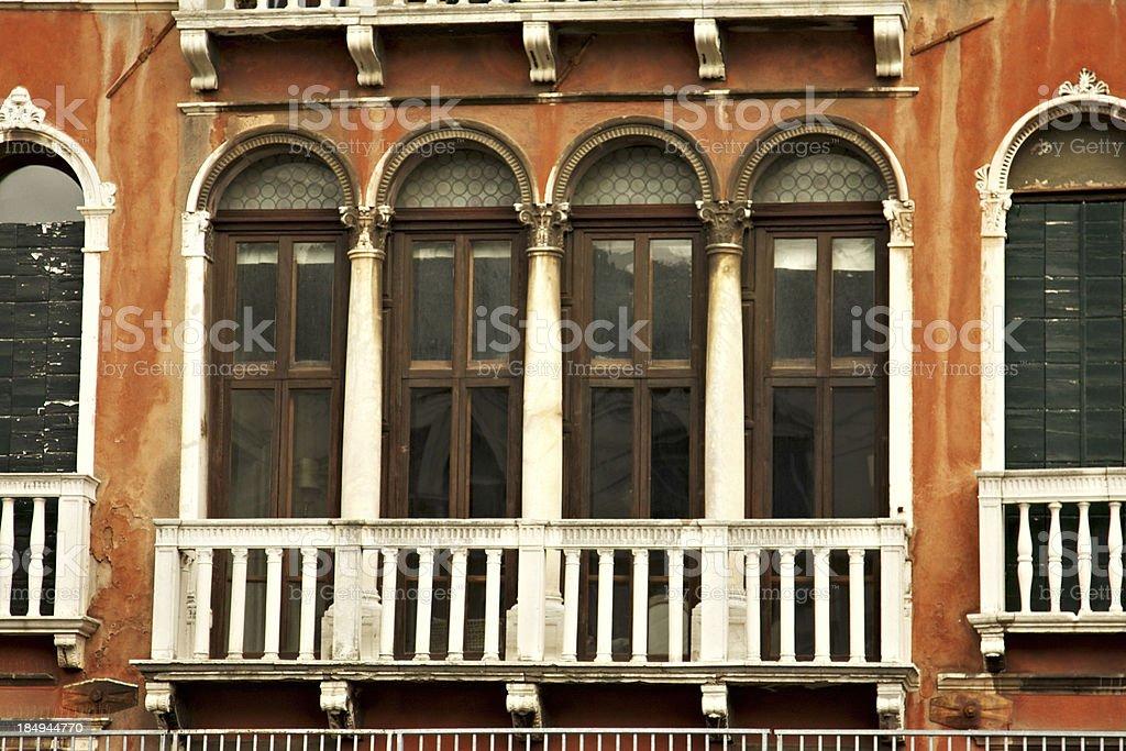 Typical Venetian Facade in Venice. Italy. royalty-free stock photo