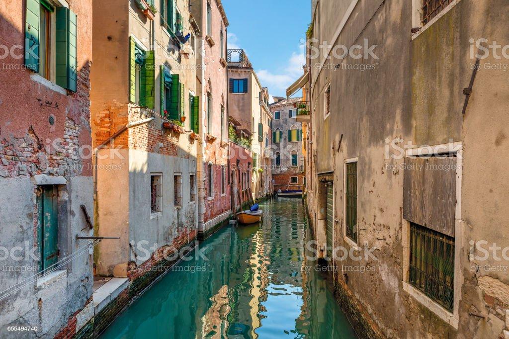 Typical venetian view. stock photo