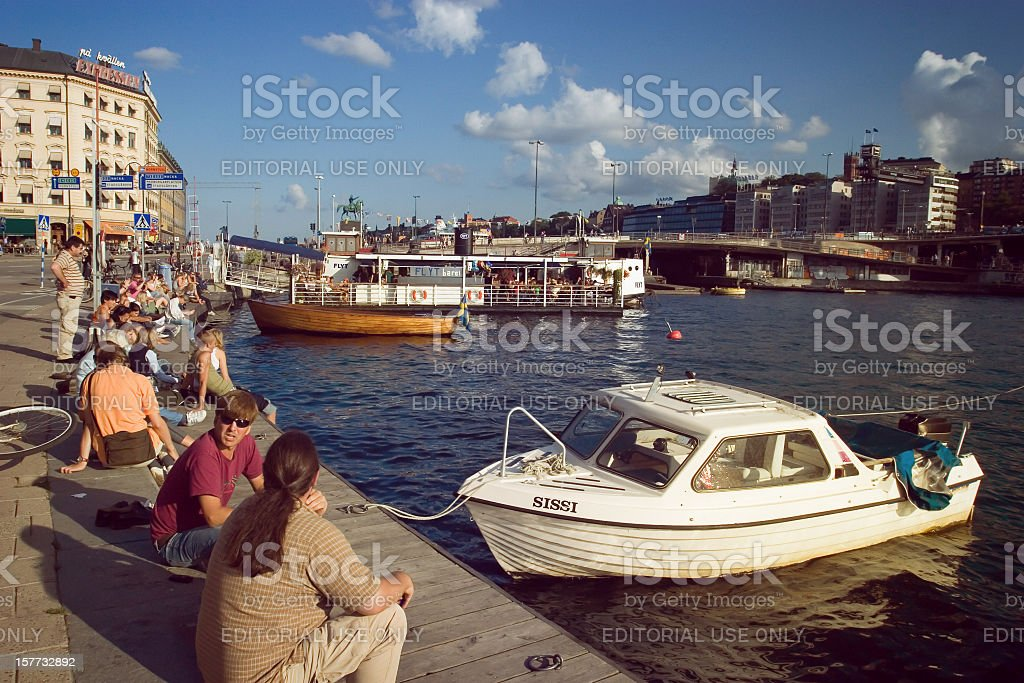 Typical view of Stockholm at Summer stock photo