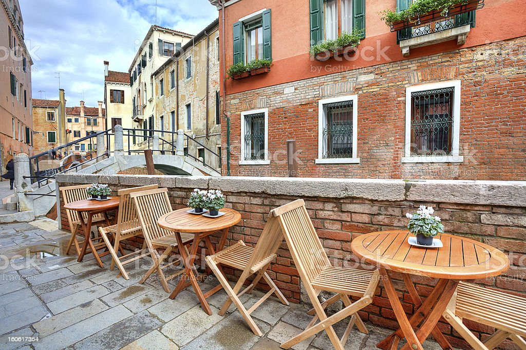 Typical view on small street in Venice, Italy. royalty-free stock photo