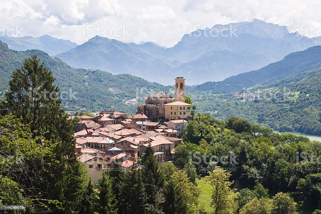 Typical village in northern Italy stock photo