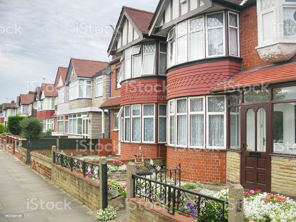 Typical West London old suburban housing. stock photo