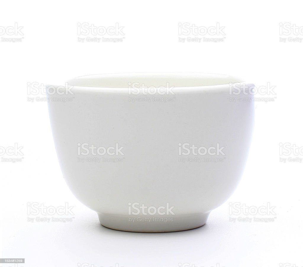 Typical White Chinese Tea Cup royalty-free stock photo