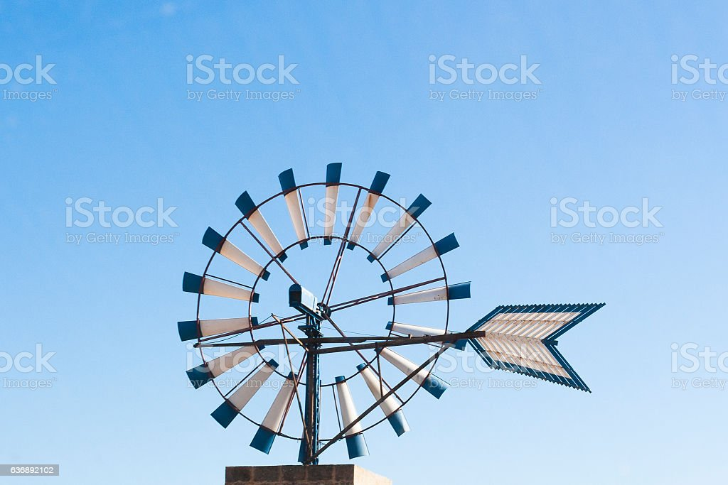 Typical windmill in Mallorca island stock photo